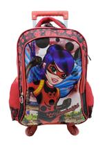 Mochila Feminina Rodinhas 360 Escolar Lady Bug Infantil 3507 Lançamento 2020 - Vozz