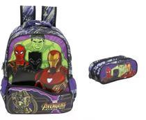 Mochila G Os Vingadores Costas Avengers Xeryus Thanos + Est -