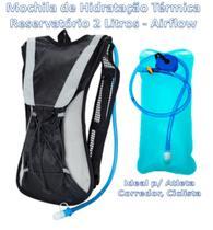 Mochila Hidratação 2 Litros Bolsa Água Impermeável Bike - Zem