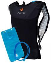 Mochila Hidratação Impermeável C/ Bolsa D'água Bike Reservatório 2 Litros Ciclismo Esportiva Masculina Feminina Alça Em Tela Acte Adventure -