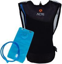 Mochila Hidratação Impermeável C/ Bolsa D'água Bike Reservatório 2 Litros Ciclismo Masculina Feminina Alça Em Tela Esportiva Azul Adventure Acte -