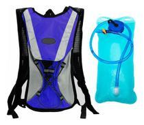 Mochila Hidratação Térmica Bolsa D' Água 2 Litros Bike Azul - Jws