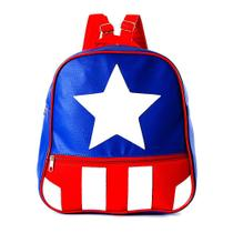 Mochila Infantil Capitão America de Costas Pequena - Marvel