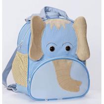 Mochila Infantil Elefante Azul G - Sônia enxovais