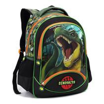 Mochila Infantil Escolar Dinossauro Dino Meninos Costas Tam G - Seanite