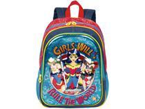 Mochila Infantil Escolar Feminina 3D Tam. G - Sestini 19x DC Super Hero Girls