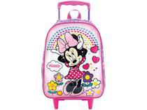 Mochila Infantil Escolar Feminina com Rodinhas - Tam. G Xeryus Daydreaming Minnie Mouse Lilás