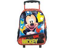 Mochila Infantil Escolar Feminina com Rodinhas - Tam. G Xeryus Hey Mickey Mouse Vermelha