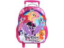 Mochila Infantil Escolar Feminina de Rodinha - Tam. G DMW Easy My Little Pony Rosa e Roxo