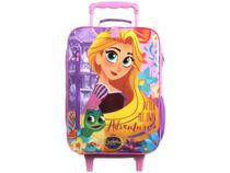 Mochila Infantil Escolar Feminina Rapunzel - de Rodinha Tam. G Dermiwil Plus Rosa
