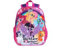 Mochila Infantil Escolar Feminina Tam. G DMW - Easy My Little Pony Rosa e Roxa
