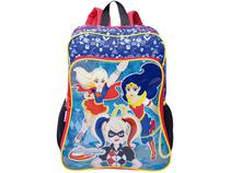 Mochila Infantil Escolar Feminina Tam. G Sestini - 19M Plus DC Super Hero Girls
