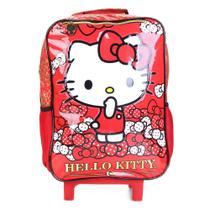 Mochila Infantil Escolar Hello Kitty Bow Bow Xeryus Com Rodinhas -