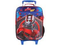 Mochila Infantil Escolar Masculina de Rodinha - Tam. G DMW Plus Ant Man and the Wasp Vermelha