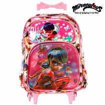 44ab6ee32 Mochila Infantil Escolar Miraculous 3D Com Rodinha - Mochila escolar