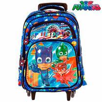 110caf479 Mochila Infantil Escolar PJ Masks 3D Com Rodinha - Mochila escolar