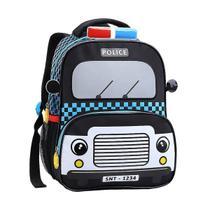 Mochila Infantil Escolar Taxi, Polícia, Bombeiros Costas Tam M - Seanite