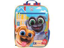 Mochila Infantil Escolar Unissex Tam. G Dermiwil - Plus Disney Puppy Dog Pals Vermelha