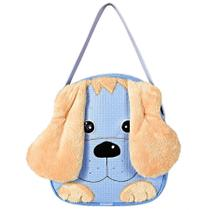 Mochila Infantil Lancheira de Mão Cachorrinho Azul P - Sônia enxovais