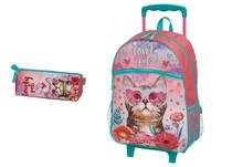 Mochila Infantil Lovely Pets de Carrinho G Pacific + Estojo -