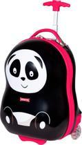Mochila Infantil Malinha Mala Viagem Escolar Rígida Urso Panda Rodinhas - Sestini