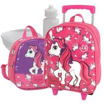 mochila infantil menina kit com lancheira feminina unicórnio - LUXCEL