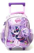 Mochila Infantil My Little Pony Poney Rodinhas M + Bolsinha - Pacific