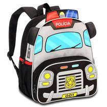 Mochila Infantil Poliéster Policia 33cm Cp8020 Clio Pets -