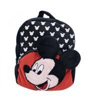 Mochila Infantil Preto Mickey Pelúcia - Mickey  Minnie