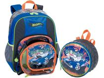 Mochila Infantil Sestini - Hot Wheels + Lancheira Hot Wheels