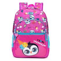 Mochila Infantil Spector Kids Pinguim Rosa - Nytron