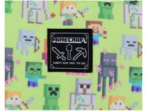 Mochila Juvenil Escolar Masculina Game Tam. G - DMW Geek Minecraft Verde