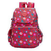 Mochila Juvenil Young - Vermelho Floral - Santino -