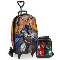 Mochila + Lancheira 3d Max Toy Liga Justiça Batman - Max toys