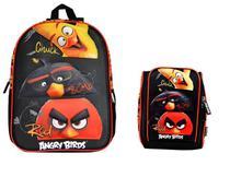 4f356bd6e Mochila + Lancheira Angry Birds 3D Chuck/Bomb/Red 801801 Santino