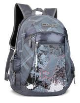 Mochila LS MO4080 com 2 bolsos frontais e 2 bolsos laterais estampa skate - Ls bolsas