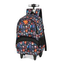 Mochila Luxcel Supermen Estampada c/ Car PT -