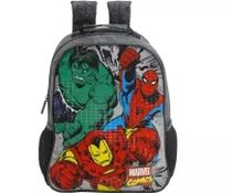 Mochila M Costas Vingadores Hulk Ferro Aranha Xeryus Guerra -