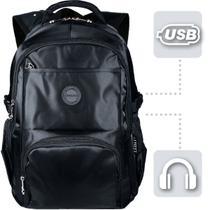 f4ca77470 Mochila Masculina Preta Impermeável Notebook Resistente M164