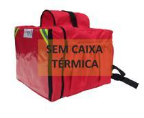 Mochila moto delivery entregador sem caixa térmica - vermelha 45 Lts - Gama
