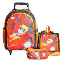 Mochila Naruto Rodinhas Lancheira Estojo - School Bag