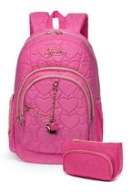 "Mochila Notebook ""15 Rosa Matelasse Fashion Original Spector -"