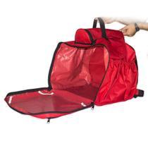 Mochila Para Entregas 45 Litros vermelha Bolsa Para Entregador Moto Sem Isopor - Bag Bolsas