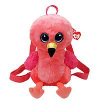 Mochila Pelúcia Gilda Flamingo Ty  DTC -