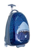 Mochila Rígida Dura Infantil Mala Viagem ABS Shark Tubarão - Yins