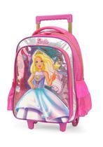 Mochila Rodinha Barbie Sereia Pink Mochilet Glitter Original -
