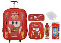 Mochila Rodinhas Escolar Infantil Carros 5005  Kit Vermelho - Xfping