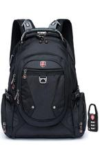 Mochila swissport hightech preto -