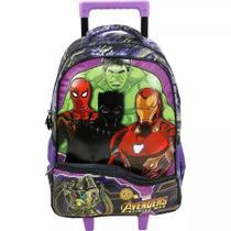 Mochila Tam G Os Vingadores Rodinhas Avengers Xeryus Thanos -