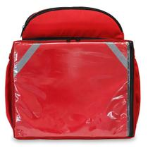 Mochila Termica Entregas Bag Bolsas 45 Litros Isopor Vermelha Aplicativo + Bolsa Externa Acoplada -